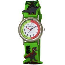 Ravel Eye-Catching Dinosaur 3D Kids Green Time Teacher Quartz Watch R1513.59 New