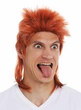 Wig Carnival Men's Chav Mullet Hedgehog 80er Years Mullet Copper Red Red