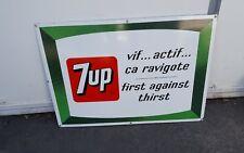 Vintage advertising 7up porcelain sign display soda