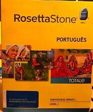 Rosetta Stone LEARN PORTUGUESE(BRAZIL)LEVEL 1  TOTALE CD SET+ DIGITAL DOWNLOAD