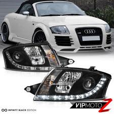 1999-2006 Audi Tt Coupe Convertible Quattro Black Led Drl Projector Headlights (Fits: Audi)