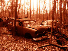 """Abandoned Junk Cars Collection #1 - Canvas Art Poster 18"""" x 24"""""""