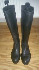 Top Damen Stiefel 39 der Marke Sax in Vollleder in schwarz