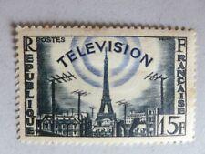 TIMBRE FRANCE LA TELEVISION 15F  Y et T N°1022 – ANNEE 1955