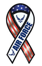 Magnetic Bumper Sticker - United States Air Force - Ribbon Shaped Support Magnet