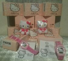 JOB LOT WHOLESALE 10 BNIB GIRLS HELLO KITTY WATCHES & PLUSH TOY GIFT SETS £250