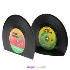 2pcs Creative Vinyl Record Shaped Book Shelves Holders
