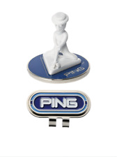 PING Japan Golf Ball Clip Marker Mr. Ping AC-U207 Blue