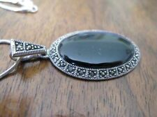 Rhodium Plated Oval Chain Costume Necklaces & Pendants