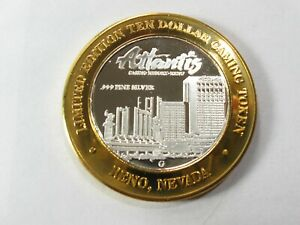 Limited Edition $10 Silver Strike Casino Chip-St Croix Casino at Turtle Lake