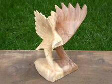Eagle Wood Carving Hand Carved Wooden Bird.....
