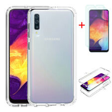 For Samsung Galaxy A50/ A20S/ A30S Clear Case Hybrid TPU Cover+Screen Protector