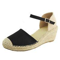 Chaussure Espadrille Sandale Plateforme Femmes Corde Nubuck Daim Talon Compensé