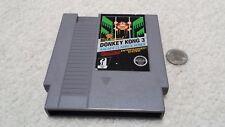 NES Nintendo, Donkey Kong 3 cartridge (5 screw case) & Dust Cover