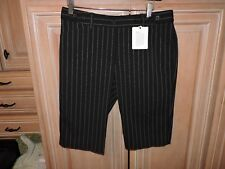 Express Women's Shorts The Editor Size 6 Black Pinstripe NWT MSRP $50