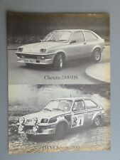 TONY POND HAND SIGNED VAUXHALL CHEVETTE RALLY CAR MOTOR SPORT AUTOGRAPHED FDC