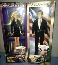 2 4 1 Talk Show Host Ann Coulter & Political Figure Don Rumsfeld Doll Figures