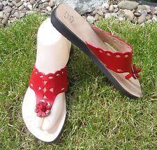 Unbranded Flip Flops 100% Leather Upper Shoes for Women