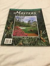 More details for 2003 the us masters journal major golf championship programme @ augusta usa vgc