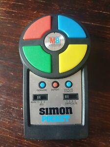 Ancien jeu Super Simon Pocket MB 1980 Non testé