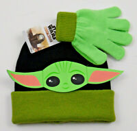 Disney Baby Yoda Star Wars The Mandalorian The Child Children Hat Gloves Set
