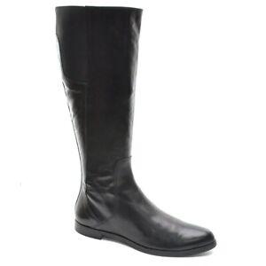 Ladies Attilio Giusti Leombruni AGL Riding Knee Boots 38 / 8 Black Leather Shoes