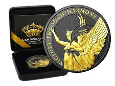 1 OZ Silber 2021 St.Helena The Queen's Virtues Victory Gold Black Empire Edition