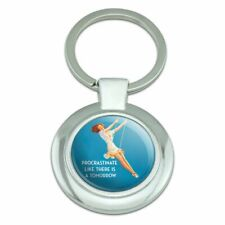Procrastinate Like There is a Tomorrow Classy Round Plated Metal Keychain