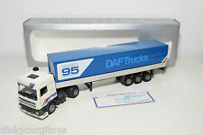 TEKNO DAF 95 SPACE CAB TRUCK WITH TRAILER PROMOTIONAL ISSUE NEAR MINT BOXED