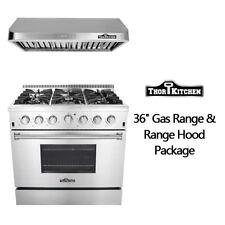 Thor Kitchen 36'' Gas Range 6burners 36 hood package Stainless Steel Kitchen
