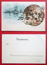 Militär Künstler Litho AK WILLY STÖWER um 1898 Schiff DEUTSCHLAND Matrose( 19842