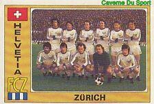 115 TEAM FC.ZURICH SUISSE HELVETIA VIGNETTE STICKER EURO FOOTBALL 76 PANINI