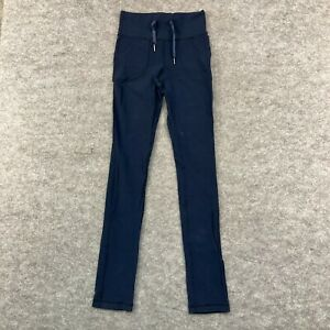 Lululemon Womens Legging Pants Sz CAN 6 AUS 10 Blue Elastic Waist Skinny 269.34