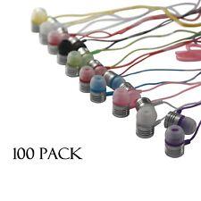 JustJamz Jelly Matte In-Earbud Headphones 3.5mm Stereo Multi-Color (100 Pack)
