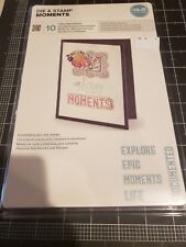 QuicKutz Lifestyle We r Moments metal cutting die and stamp set NEW