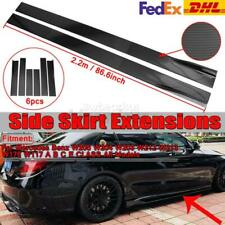86.6inch Carbon Fiber Look Side Skirt Extension For Mercedes Benz W205 W204 W212