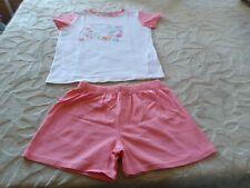 Pyjama d'été , Blanc/Rose,Marque Tout simplement, 10 ANS , Excellent état