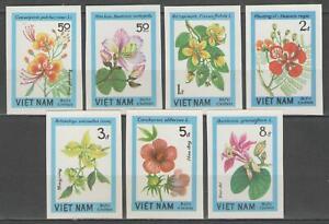 """VIETNAM:  n°485/491 ** non dentelés, """"flore, fleurs"""""""