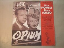 "RARE DOSSIER DE PRESSE DEPLIANT DU FILM ""OPIUM"" / DICK POWELL, SIGNE HASSO ++"