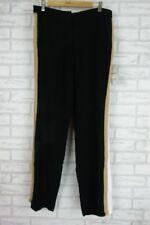 ZARA BASIC COLLECTION Pants Sz M Black, Beige, White Stripe Print BNWT