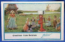 c. 1910 MELLOTTE CREAM SEPARATOR Co Belgium Advertising Postcard Milk Antique