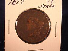 Nice 1817 Coronet Head Large Cent 13 Stars Good Condition