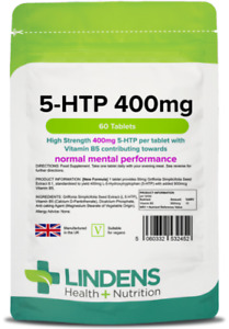 5 HTP 400mg Tablets (120 pack) - Lindens Made in UK