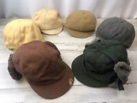 Vintage Childs Hat Cap Lot of 6 Peckett Hugger Newsboy English Eton Boys 1950's