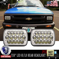 "7X6""LED Sealed Beam Headlight Projector Upgrade for Chevy S10 Sonoma Truck Pack2"