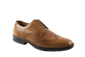 RedTape Maglin Tan or black leather brogue laced shoe Formal Smart Office