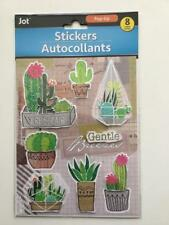 JOT CACTUS THEME 3D STICKER SHEET (8 STICKERS) GREAT FOR SCRAPBOOKING