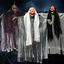 Halloween Scary Hanging Decor Props Sound Skeleton Ghost Party Creepy Horror US