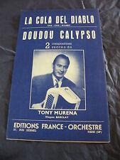 Partition La Cola del Diablo Doudou Calypso de Tony Murena cha cha Mambo 1958