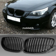 2pcs Front Kidney Grille Grill For BMW  E60 E61 5 Series 2003-10 Matte Black New